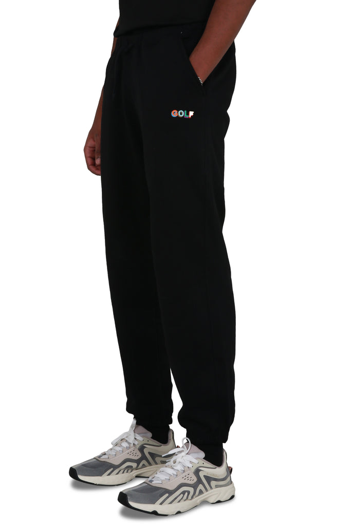 3D Mini Golf Logo Sweatpants - Black