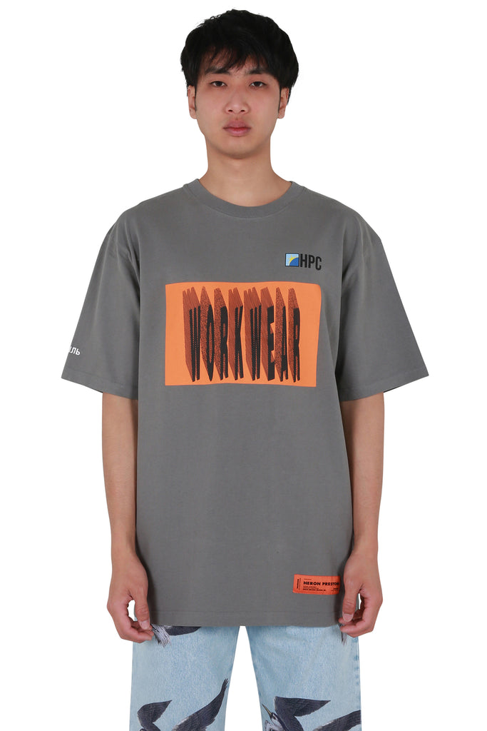 HP Workwear Oversized T-shirt - Grey/Orange