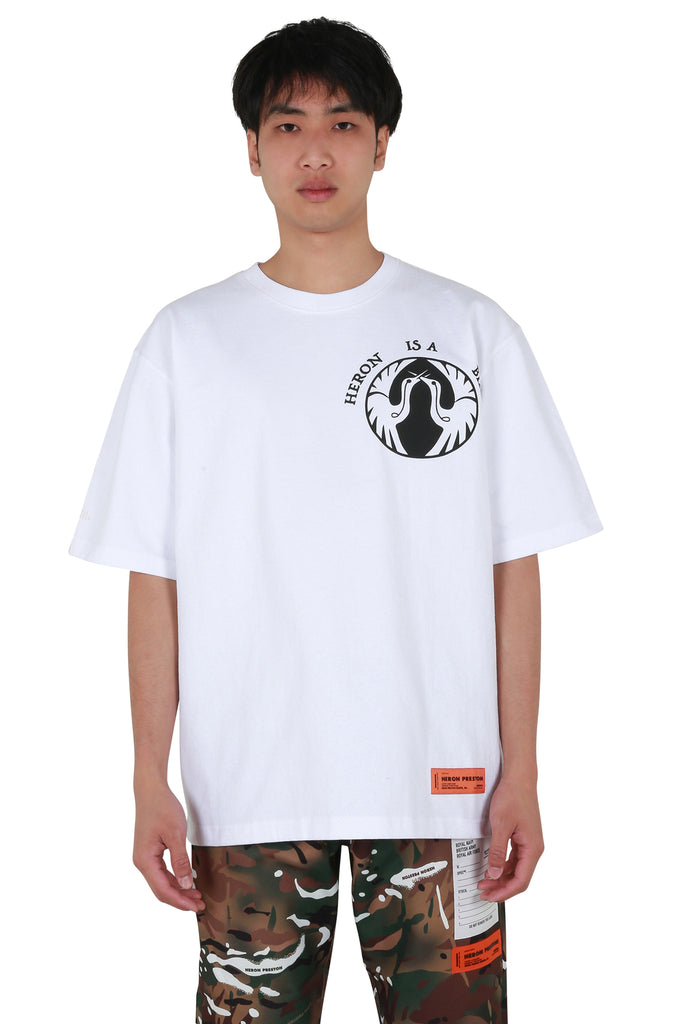 Heron Bird Regular T-shirt - White/Black