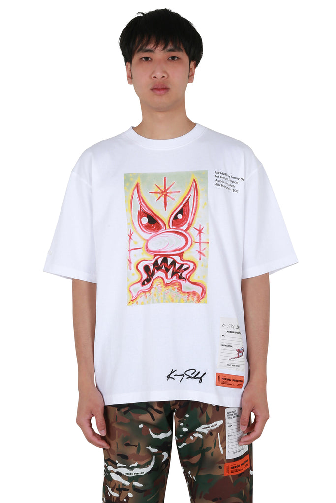 Kenny Scharf Meanie Regular T-shirt - White/Pink