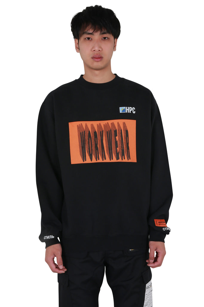 HP Workwear Oversized Crewneck - Black/Orange