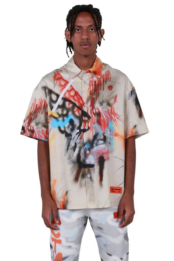 HP x Robert Nava Baseball Shirt - Sand/Multi