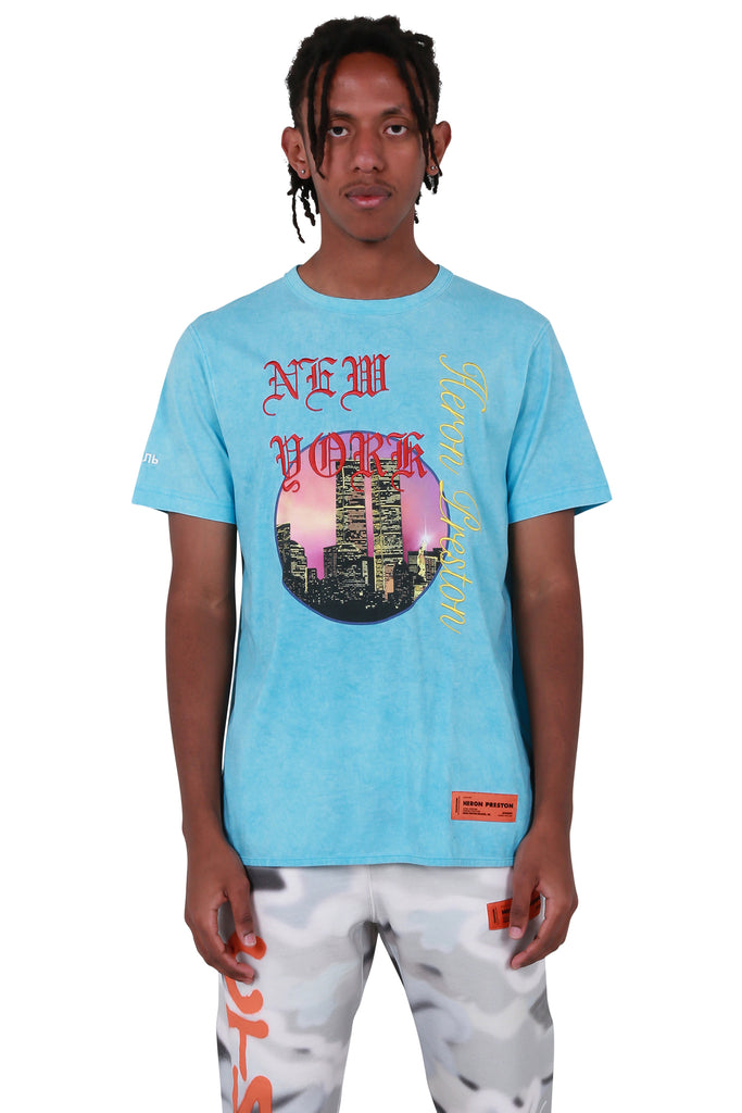 NYC Skyline Regular T-shirt - Light Blue
