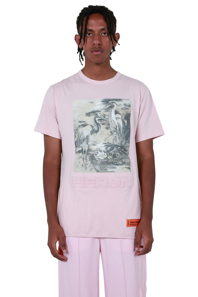 Heron Birds Regular T-shirt - Pink