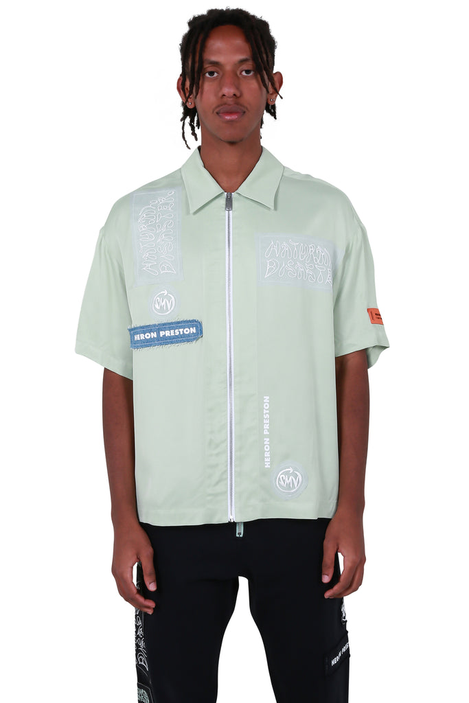 HP x Sami Miro Satin Zip Shirt - Mint