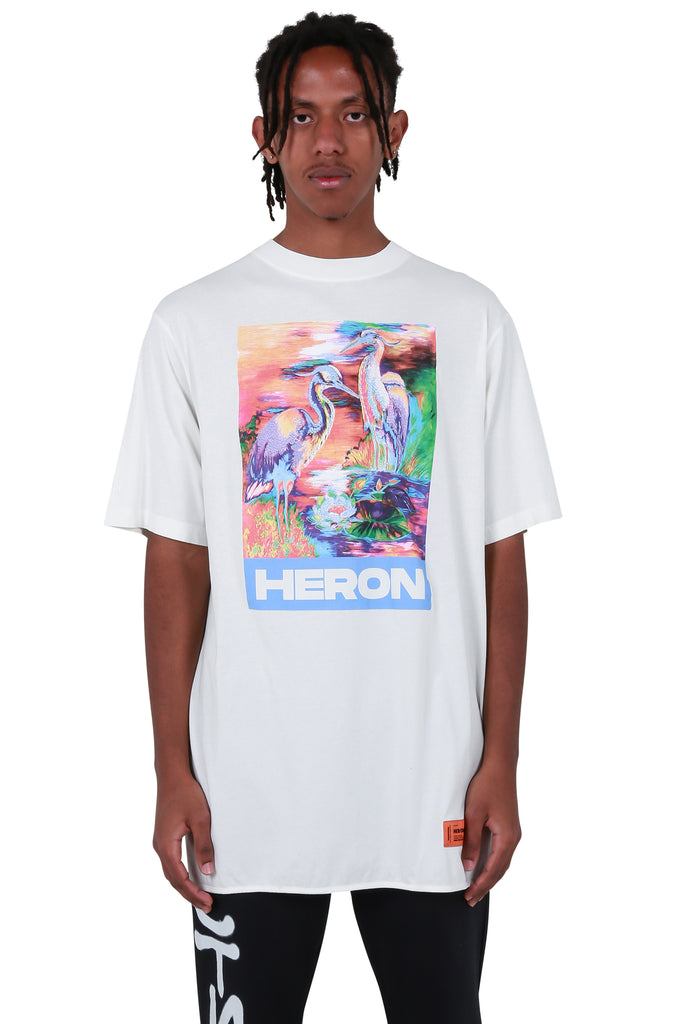 Heron Over T-shirt - White