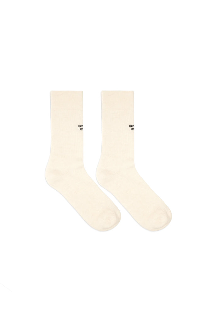 Hiking Socks - Vintage White