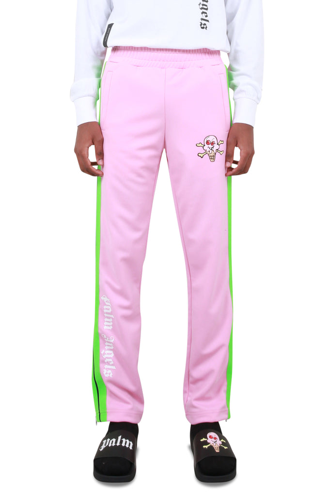 ICECREAM Skull Track Pants - Pink