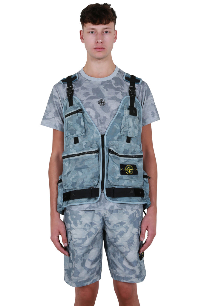 Chest Bag Vest - Sky Blue Camo