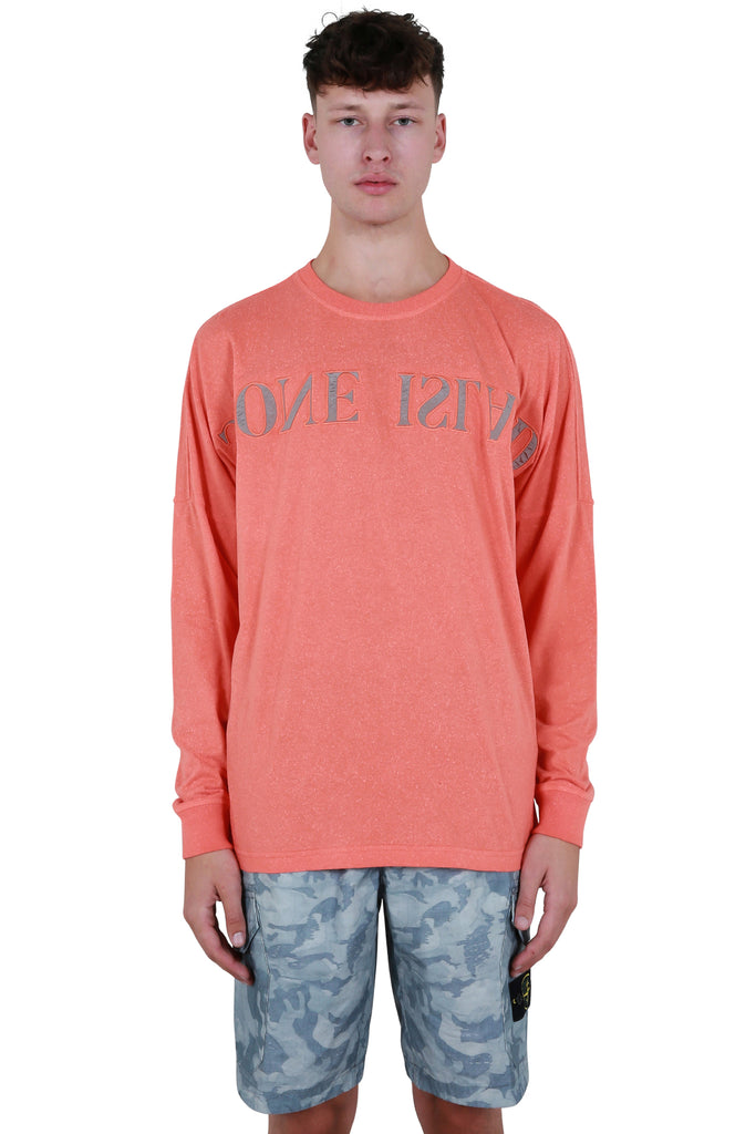 Long Sleeve Logo T-shirt - Orange Red