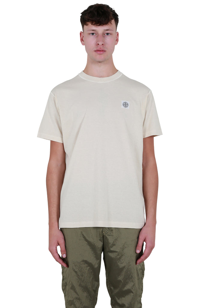 Logo Patch T-shirt - Beige