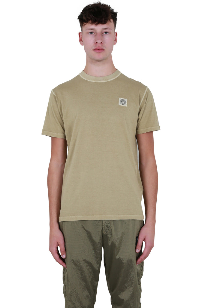 Fissato Effect T-shirt - Faded Beige
