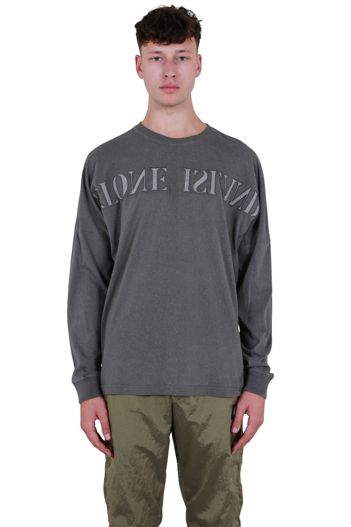 Long Sleeve Logo T-shirt - Blue Grey