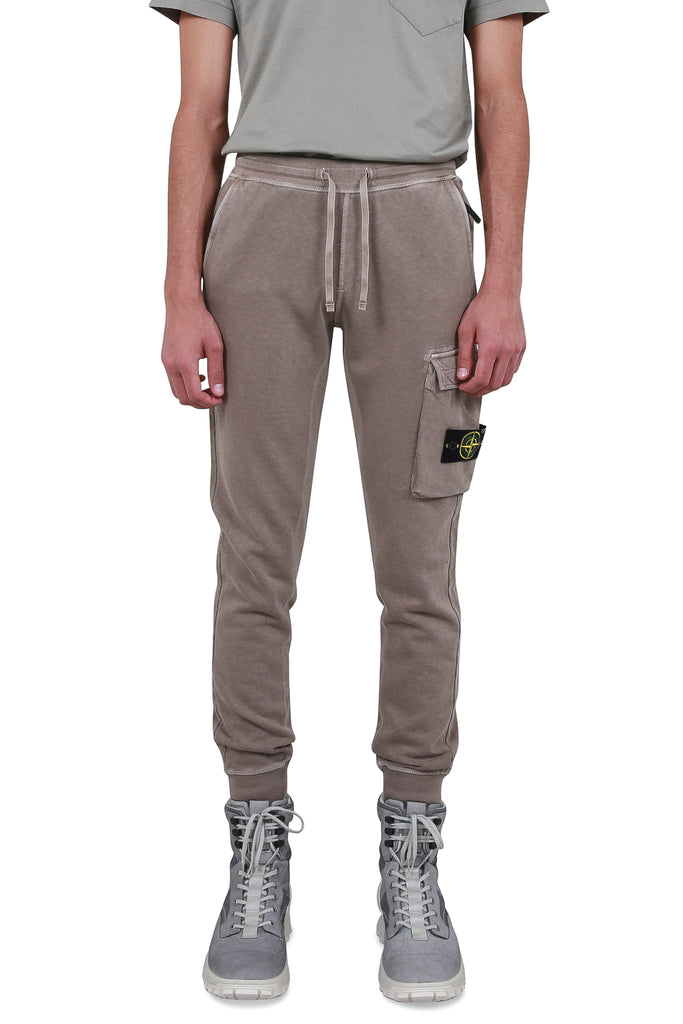 STONE ISLAND: Cargo Fleece Track Pants - Sand | LESSONS