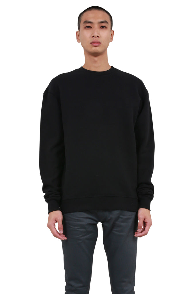 Oversized Crewneck Sweater - Black