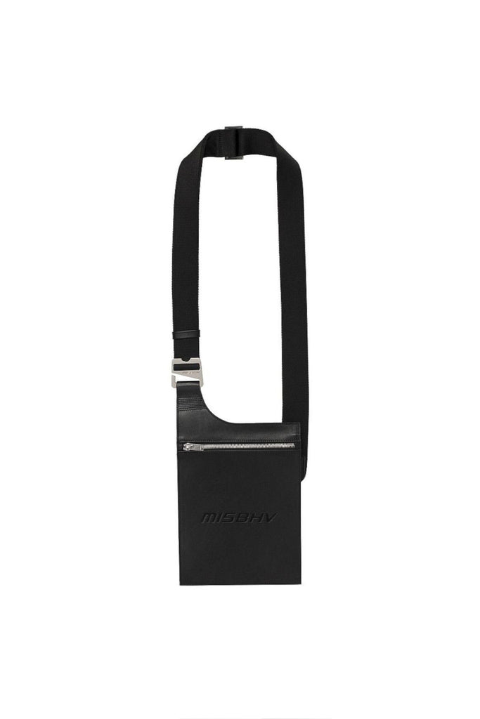 Leather Crossbody Pouch - Black