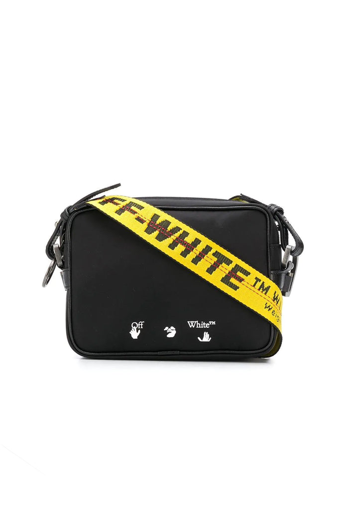 Logo Nylon Crossbody Bag - Black/White