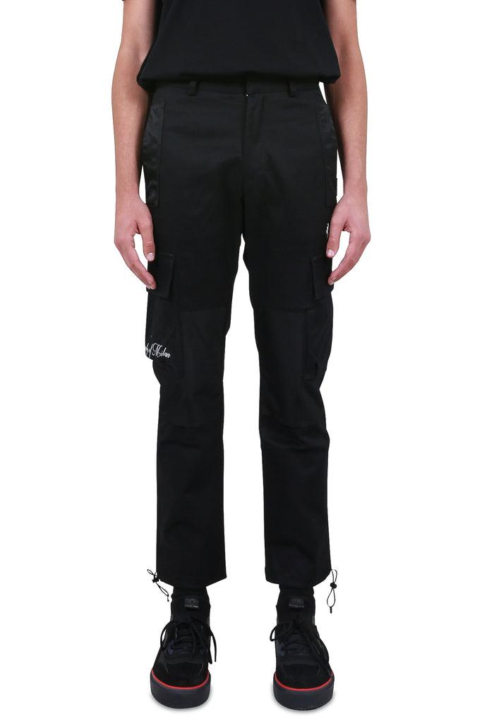 MARCELO BURLON: Cross Cargo Pant - Black | LESSONS