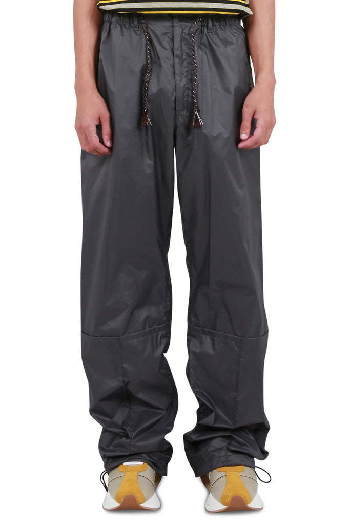 Light Coated Nylon Trousers - Dark Grey