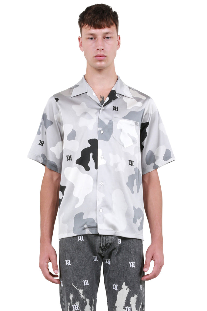 MISBHV: Grey Camo Short Sleeve Shirt | LESSONS