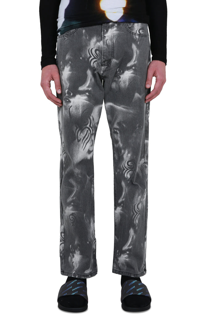 Manga Denim Trousers