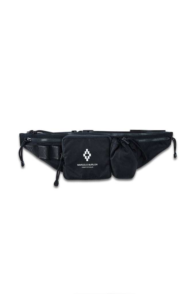 MARCELO BURLON: Cross Fanny Pack - Black | LESSONS