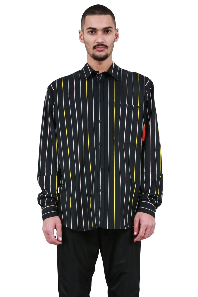 Instructions Stripe Shirt - Black/White