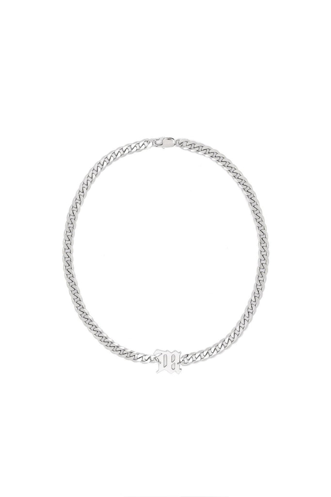 The M Curb Link Necklace - Silver