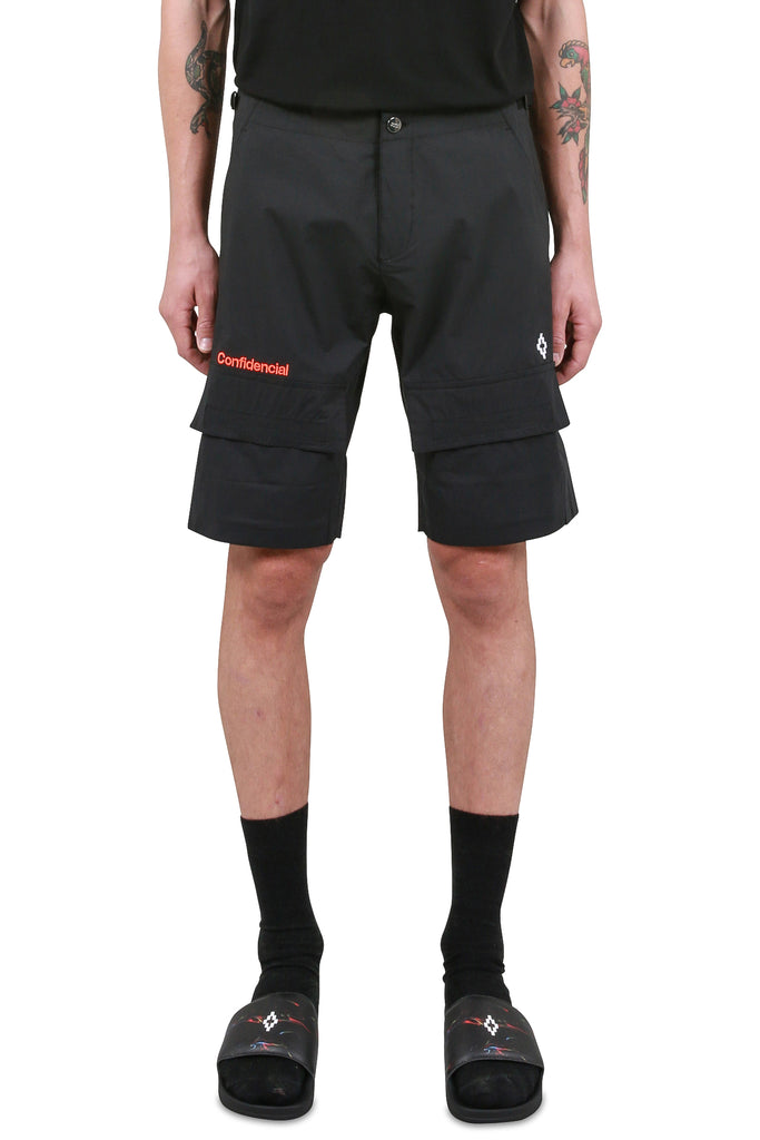 MARCELO BURLON: Confidencial Shorts - Black | LESSONS