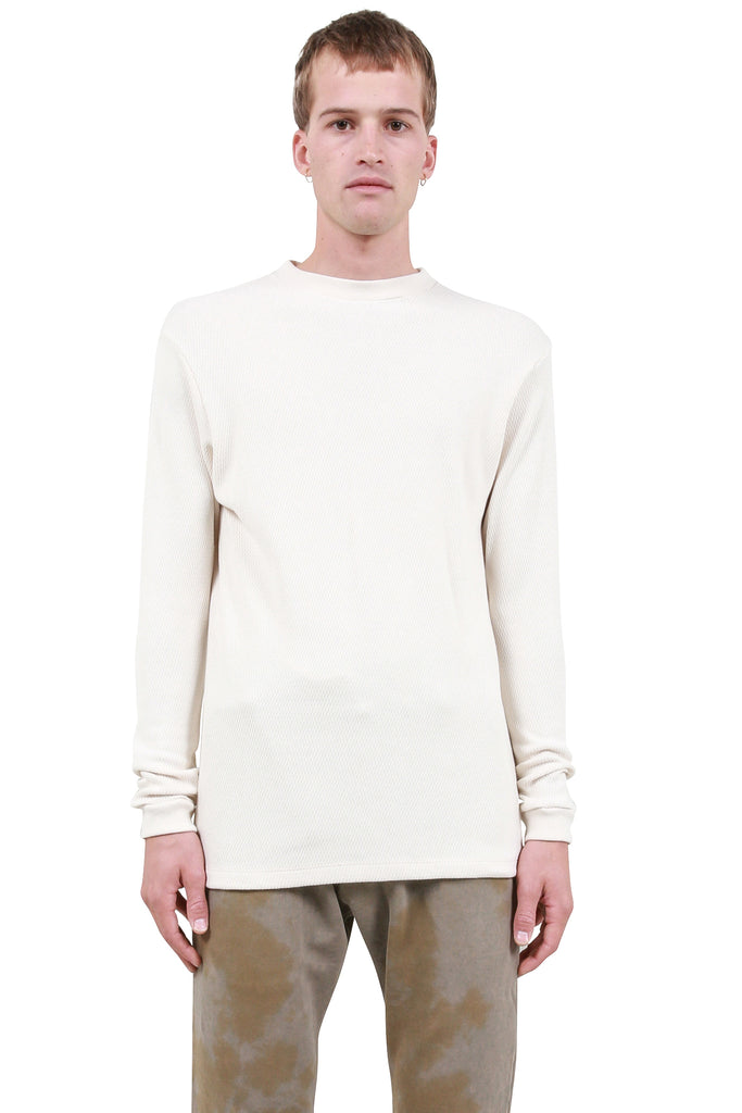 BILLY: Classic Thermal Mockneck - Dusty White | LESSONS
