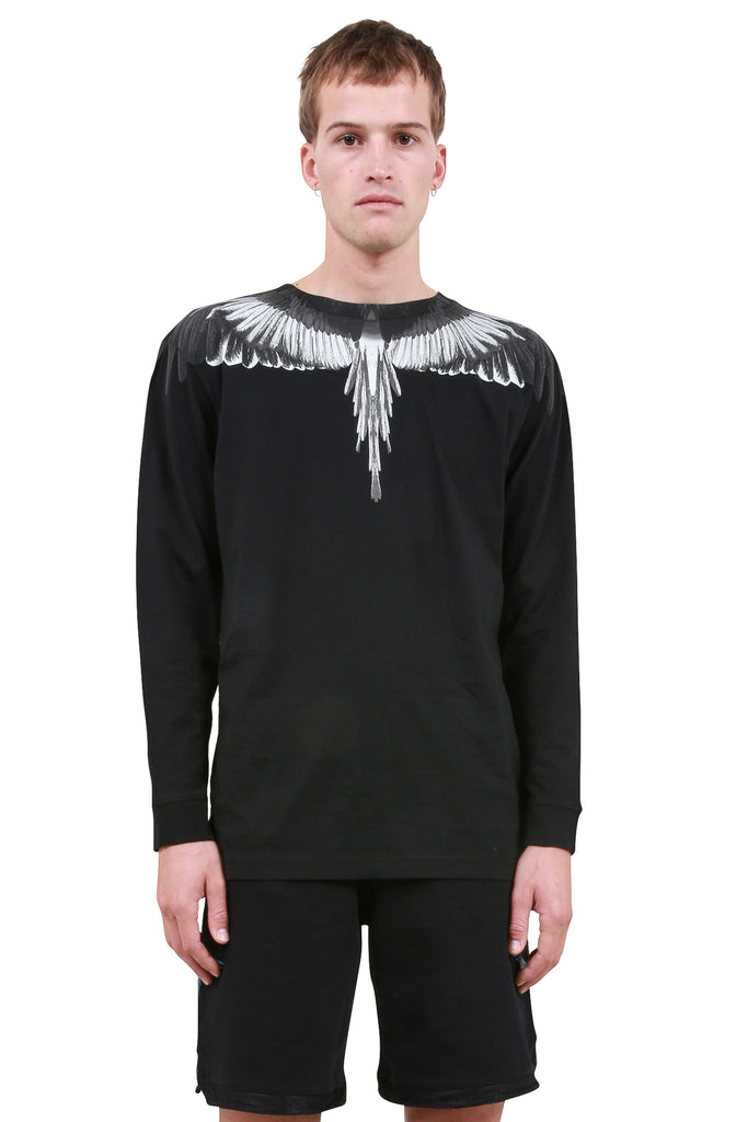 Wings Long Sleeve T-Shirt - Black/Silver