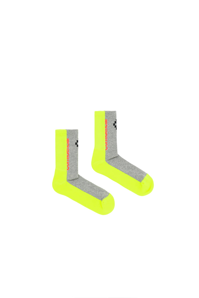 MARCELO BURLON: Confidencial Short Socks - Fluoro Yellow | LESSONS