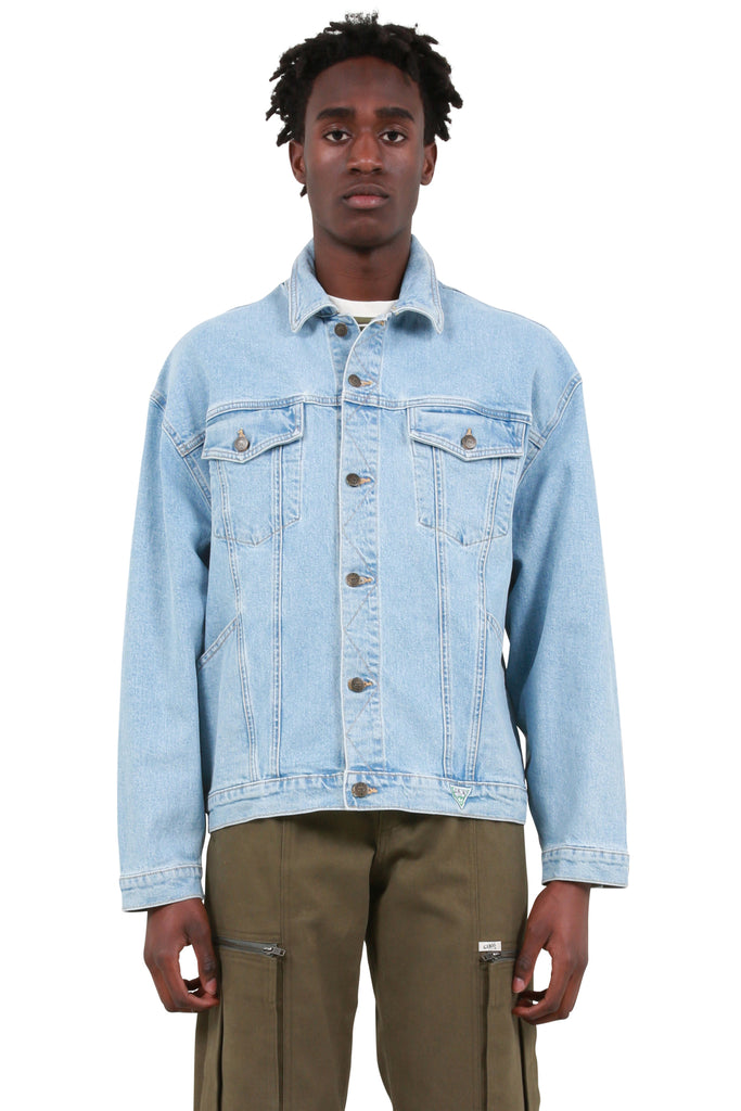 Mountain Graphic Oversized Denim Jacket