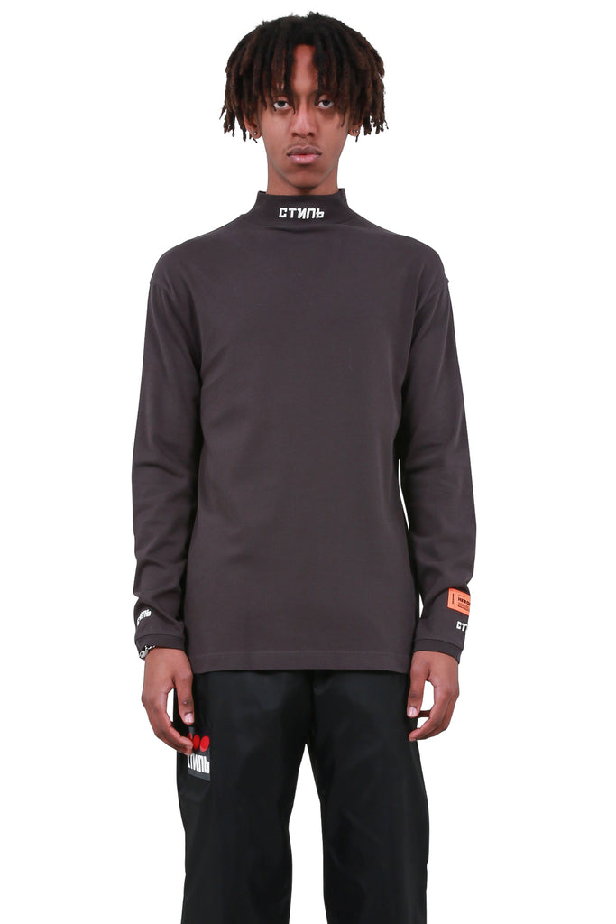 HERON PRESTON: CTNMB Turtleneck - Grey Brown | LESSONS