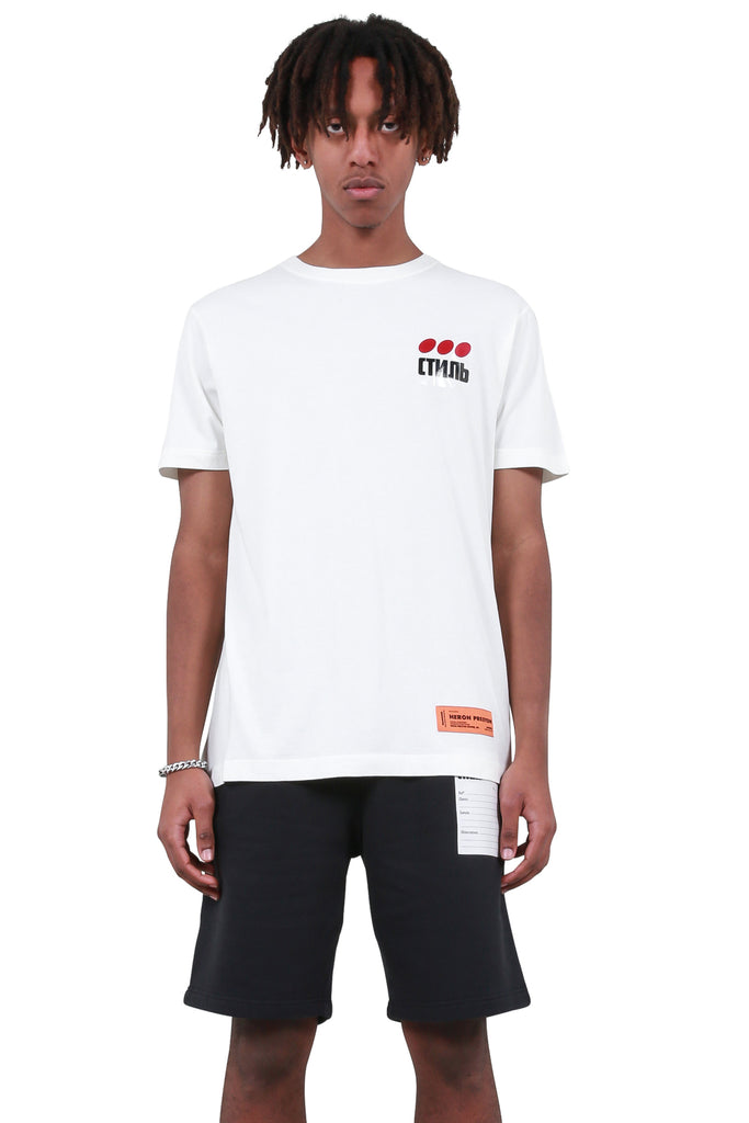 HERON PRESTON: CTNMB Dots Regular T-Shirt - White | LESSONS