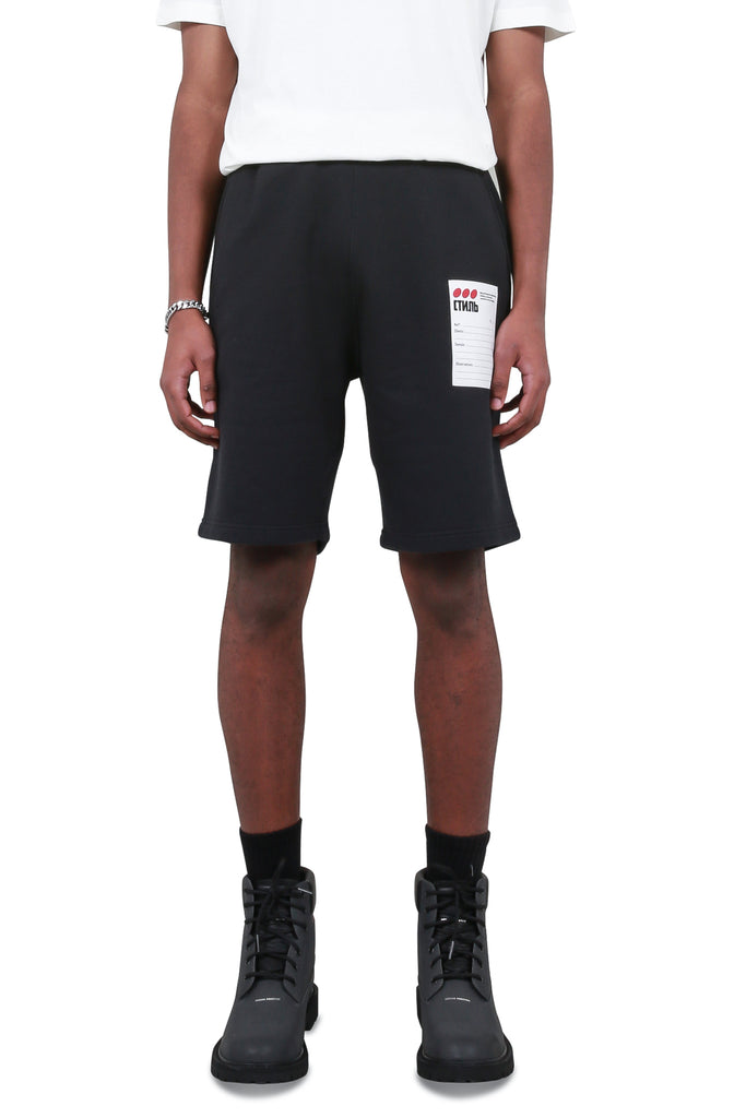 Sticker label Shorts - Black