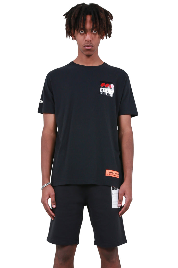 HERON PRESTON: CTNMB Dots Regular T-Shirt - Black | LESSONS