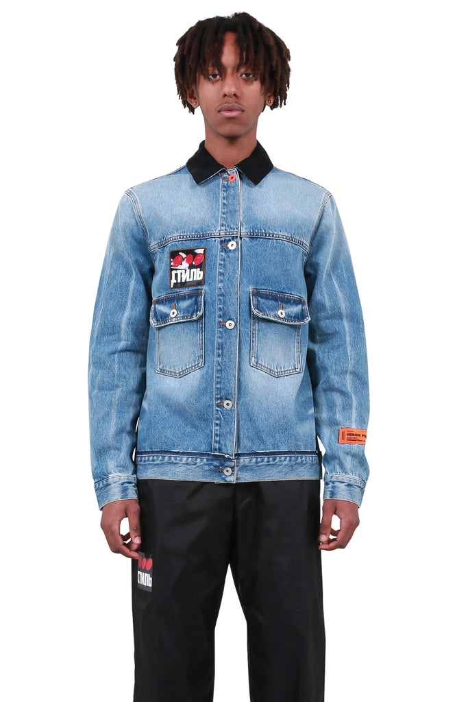Slim Low Pocket Denim Jacket - Vintage Wash
