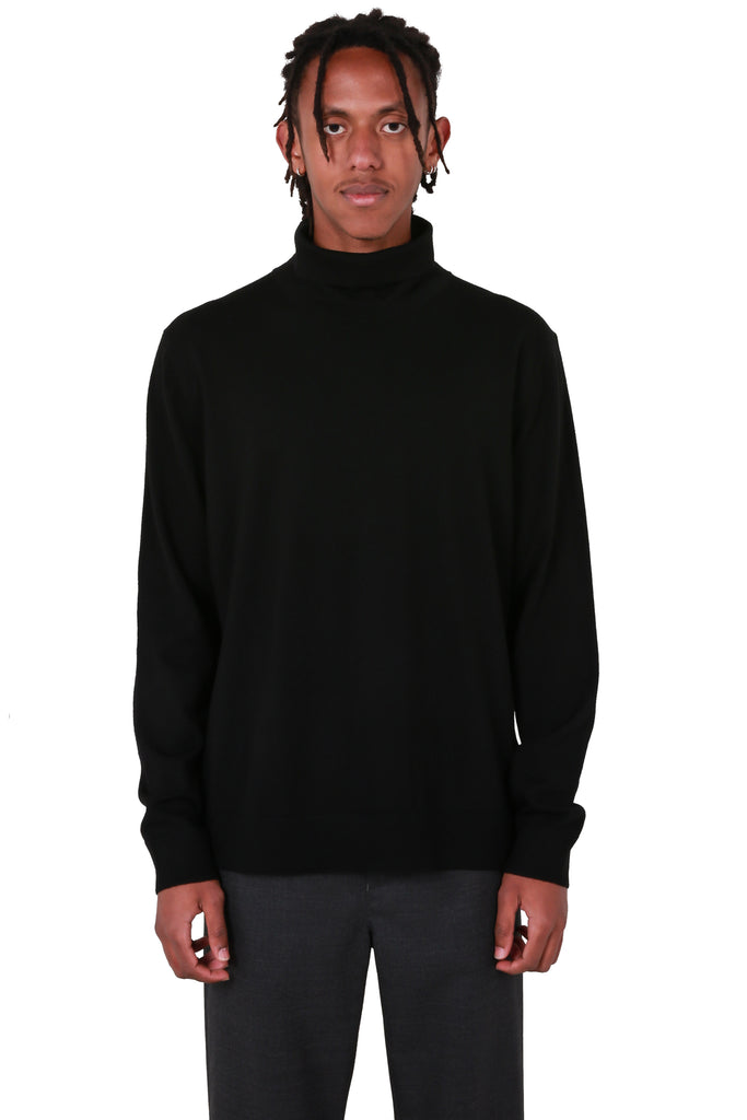 Roll Neck Sweater - Black