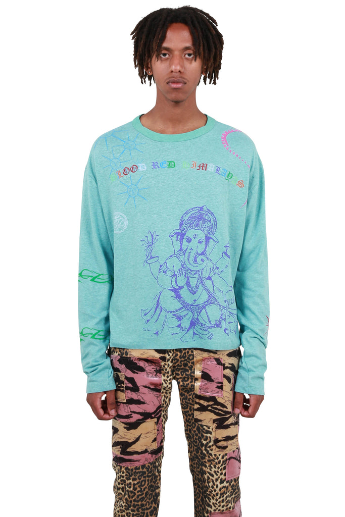 Himalayan Tattoo Long Sleeve - Mint
