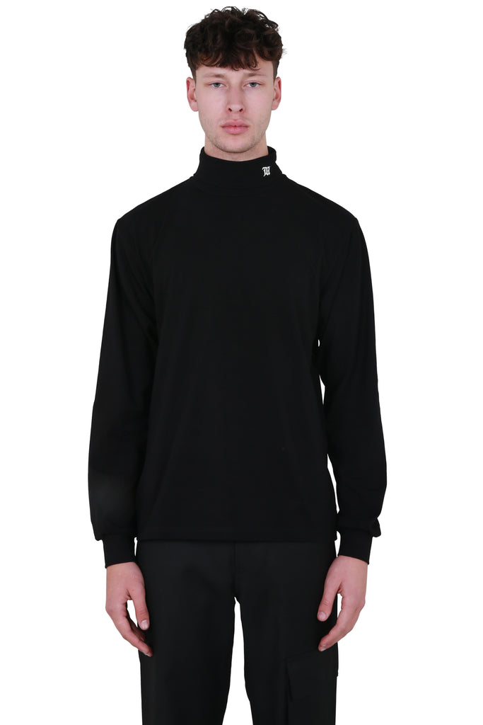Monogram Turtleneck - Black
