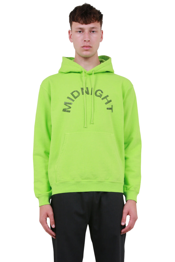Midnight Studios: Crystal Logo Hoodie - Electric Green | LESSONS