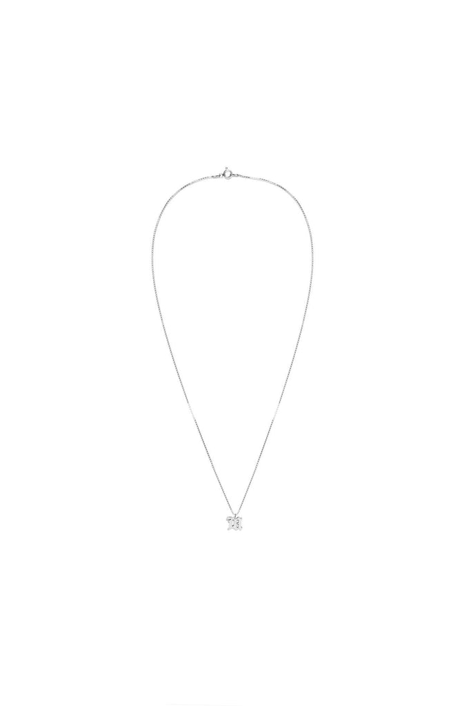 M Pendant Necklace - Silver
