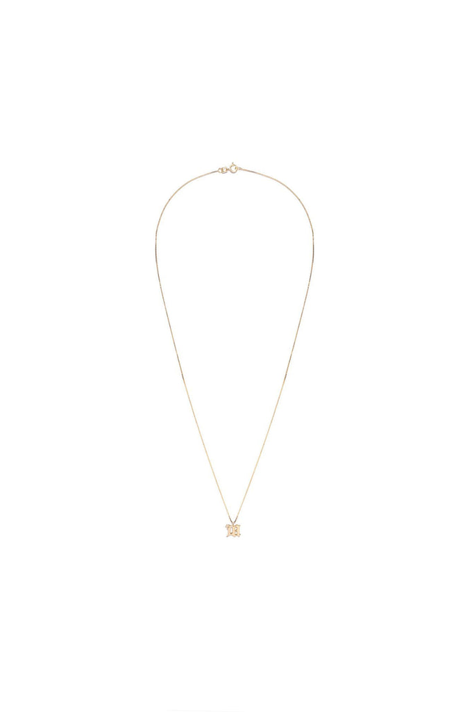 M Pendant Necklace - Gold