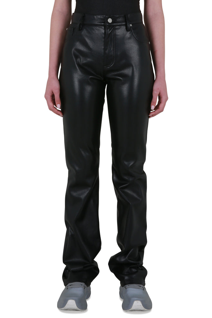 Vegan Leather Trousers - Black