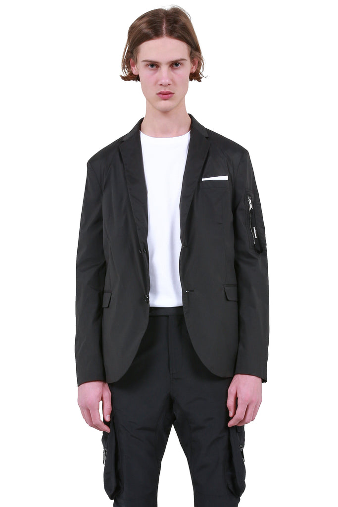 MA-1 Blazer Jacket - Black