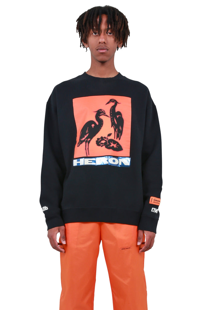Herons Tape Crewneck - Black
