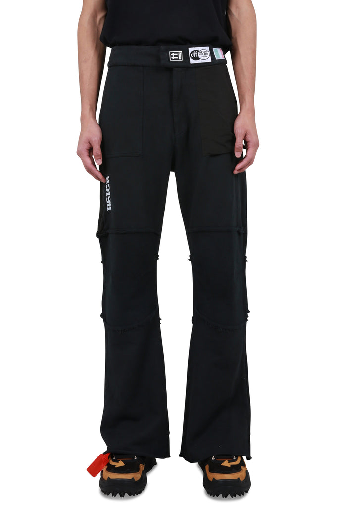 Parachute Patchwork Sweatpants - Black
