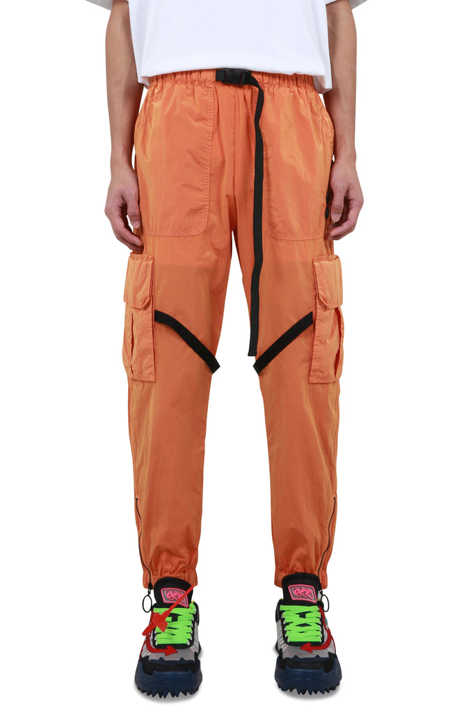 OFFF Parachute Cargo Pants - Orange