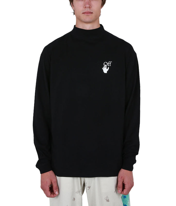 Pascal Arrow Oversized Mock Neck - Black/White